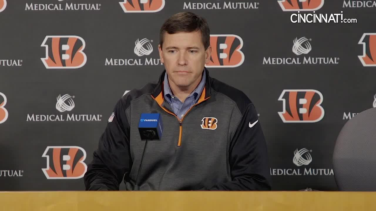 Bengals offensive coordinator Bill Lazor talks about his dedication to revitalizing the offense on Jan. 3