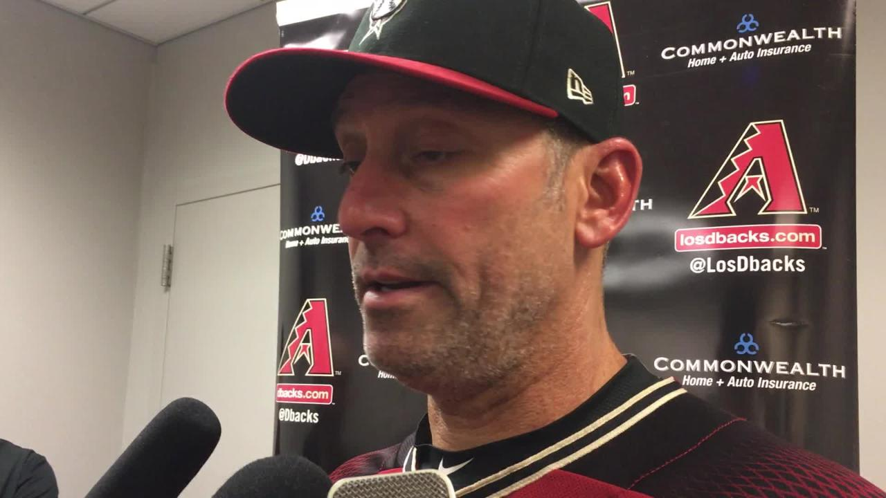Diamondbacks manager Torey Lovullo talks about his team's performance in a 4-1 loss to the Mets on Sunday.
