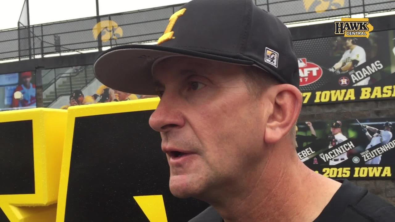 The Iowa baseball coach discussed his sixth-seeded team's chances in Omaha, the NCAA selection committee and more on Monday in Iowa City.