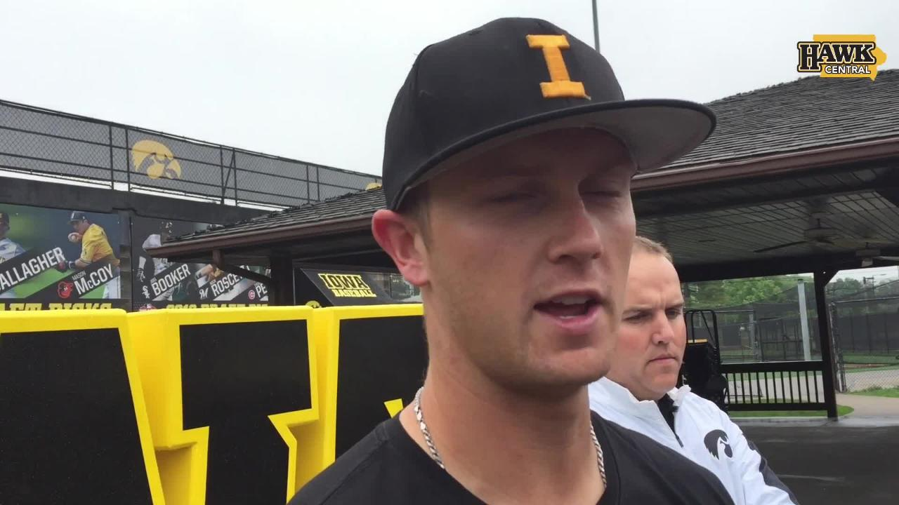 The power-hitting left-hander discusses Iowa's past runs in the Big Ten Tournament and the challenge ahead this week in Omaha.