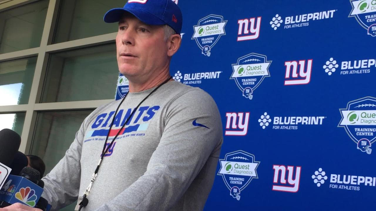Giants coach Pat Shurmur speaking about Eli Apple and the clean slate he has provided for him.