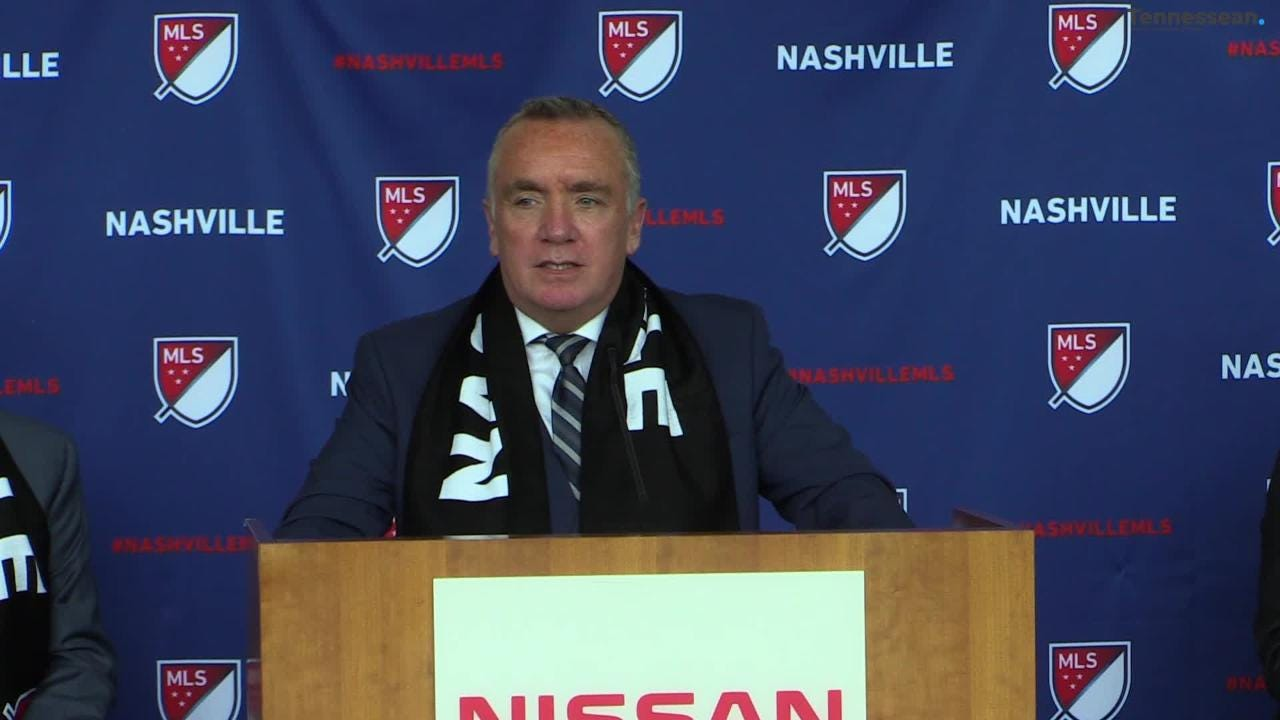 Ian Ayre was announced as the new CEO of the MLS expansion team in a press conference at Nissan Stadium.