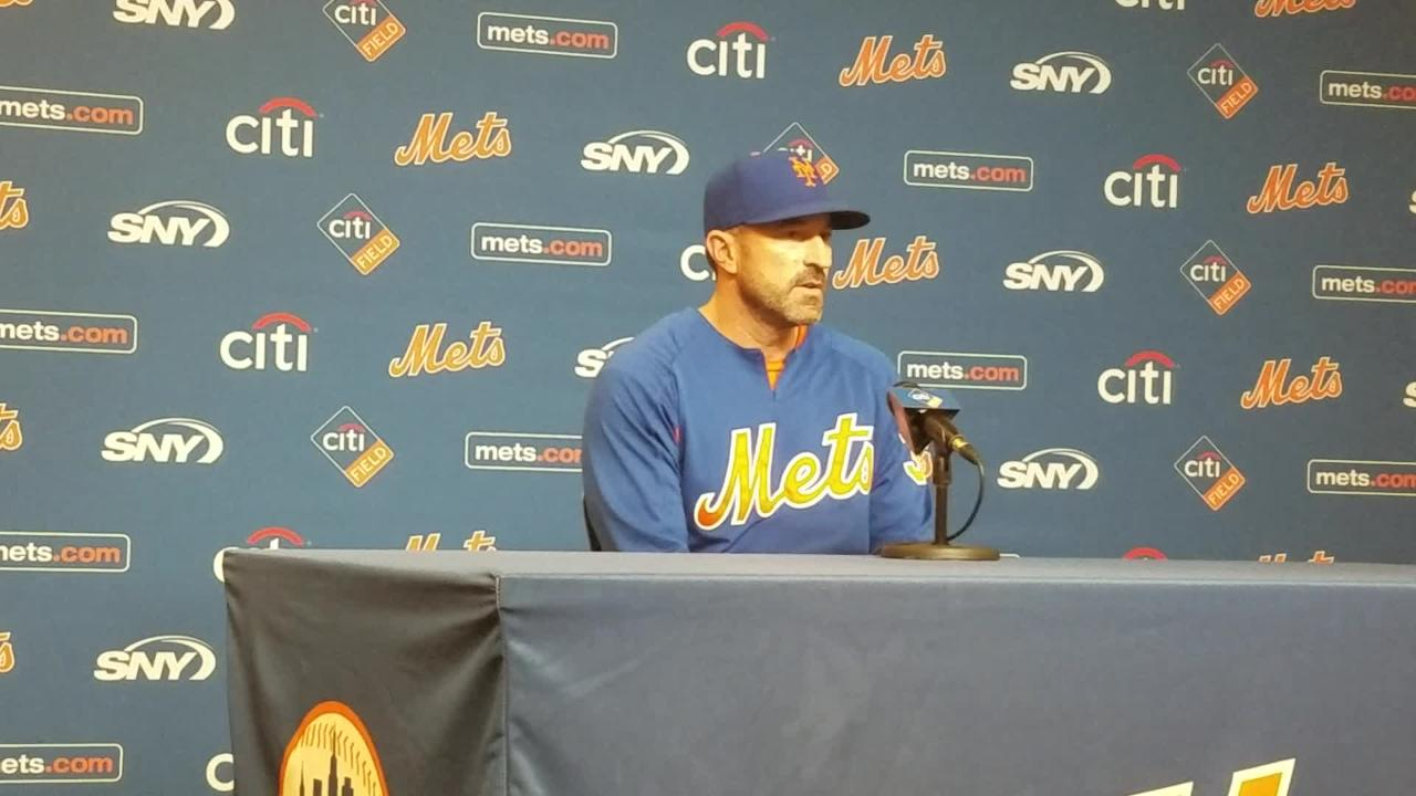 NY Mets manager Mickey Callaway previews Jason Vargas' start against Miami