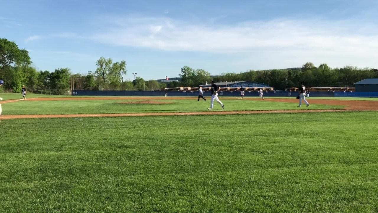 Henry Juan homered and drove in six runs for Horseheads in a 16-6 Game 1 win over Corning in the Class AA finals May 21 at Horseheads High School.