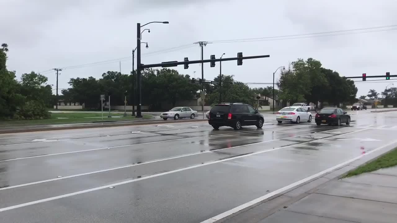TCPalm's Will Greenlee reports from the area of Lennard and Walton roads in Port St. Lucie May 22, 2018.