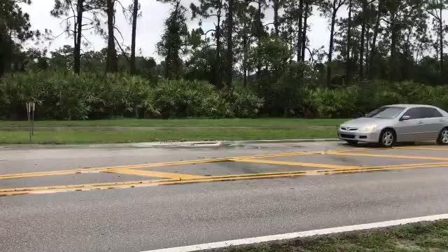 Motorists found it tough to avoid a pothole on California Boulevard south of Heatherwood Boulevard May 22, 2018.