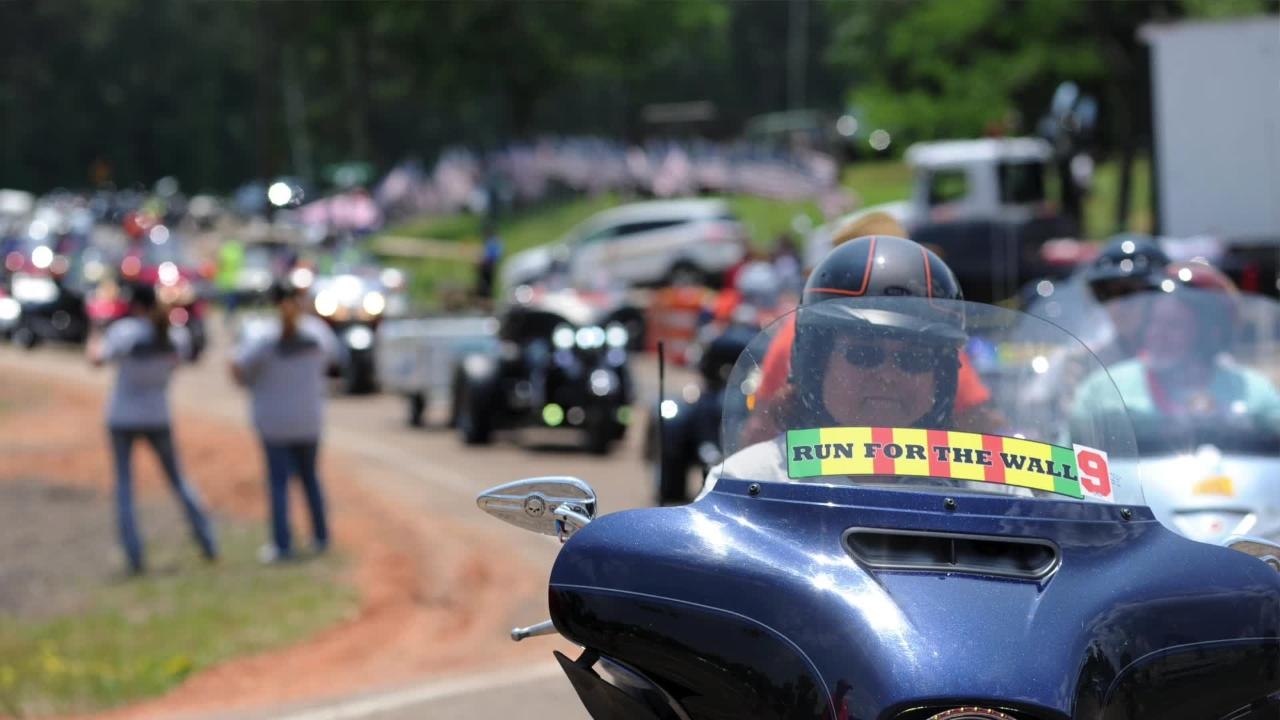 Run for the Wall, Southern Route, riders make a stop at Harley Davidson of Jackson on their way to the Vietnam Veterans Memorial in Arlington, VA.