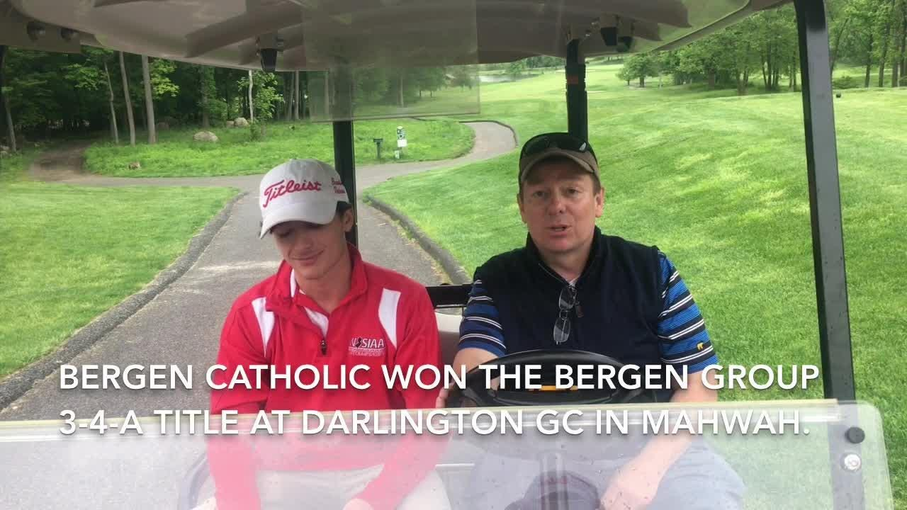 This 'Holding Cart' video features rapid-fire interviews with high school golfers and these interviewees are from Bergen Catholic.
