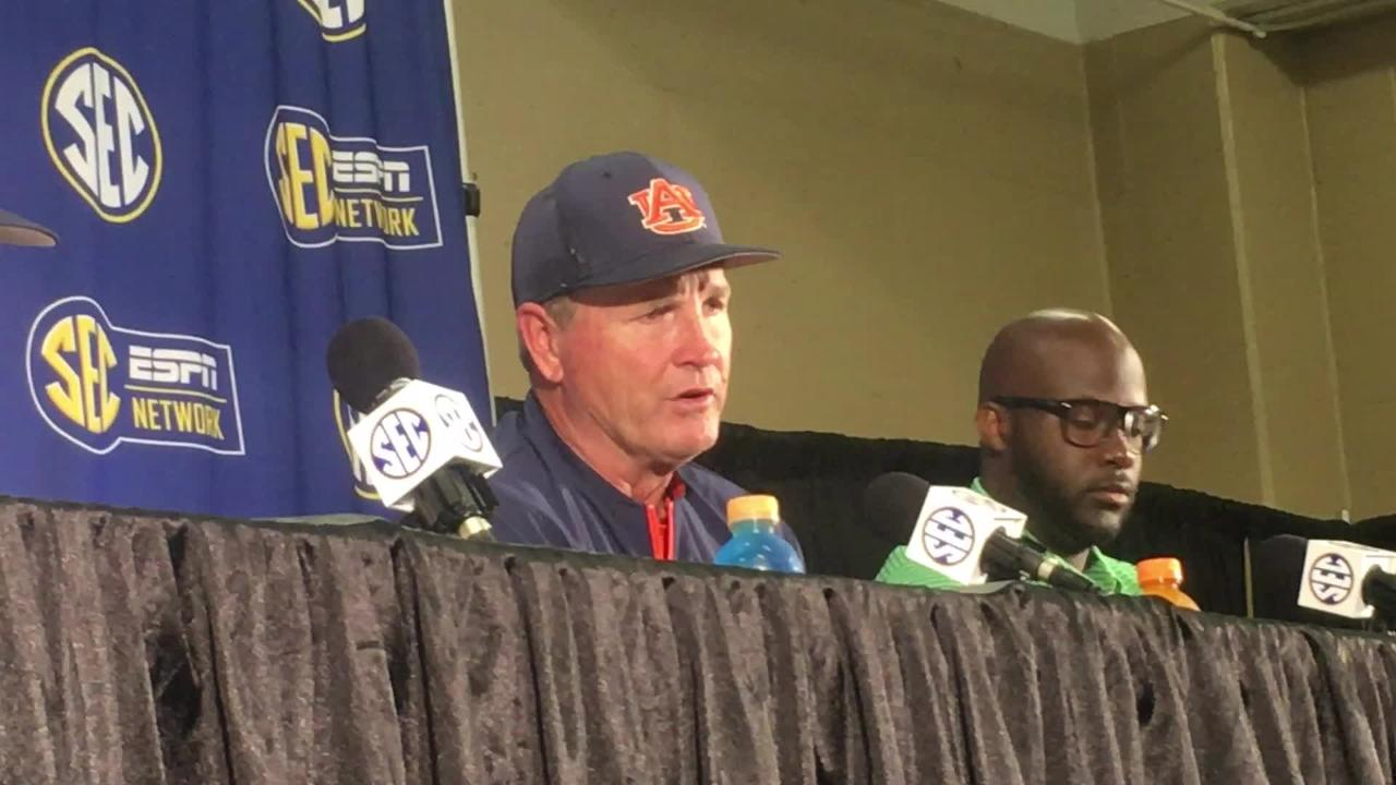 Auburn pitching coach Steve Smith recaps the game after SEC Tournament win over Kentucky.