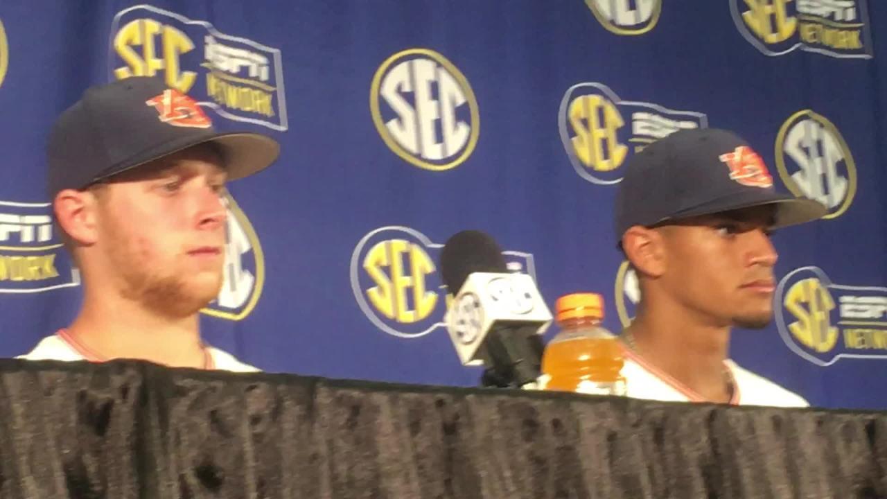 Auburn's Will Holland & Davis Daniel recap the game after SEC Tournament win.