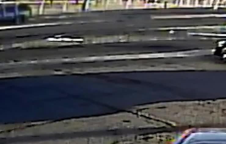 A pedestrian is in critical condition after a hit-and-run in Phoenix on May 17, 2018. This clip shows damage to the hood and a shattered windshield.