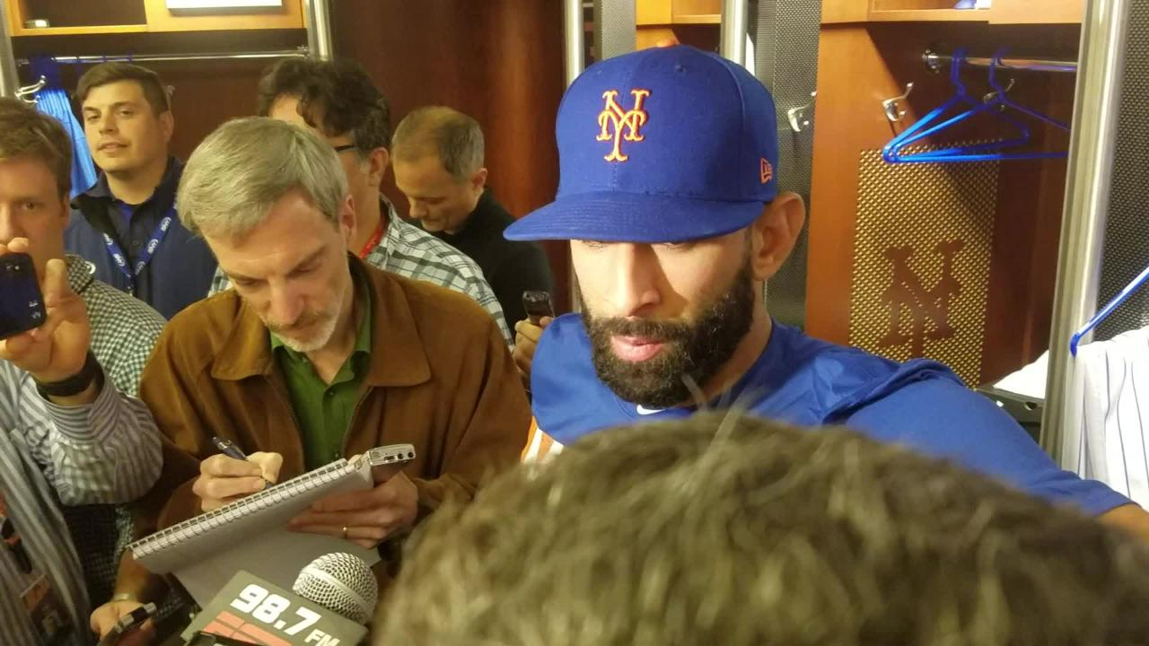 NY Mets outfielder Jose Bautista on joining the Mets