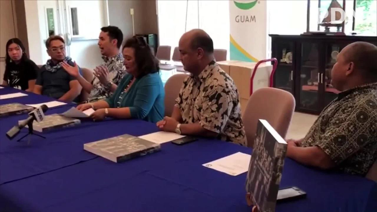 """Guam DOE receives 50 books full of stunning images captured during the 2016 Festival of Pacific Arts, donated by the GVB. """"Journeys to the Heart"""" is by Pulitzer Price-winning photographer Manny Crisostomo."""