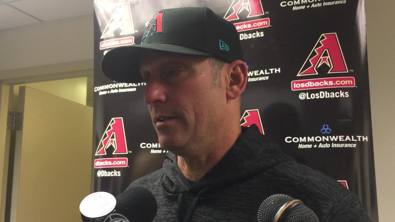 Diamondbacks manager Torey Lovullo talks about his team's latest setback, a 1-0 loss to the Milwaukee Brewers on Tuesday night.