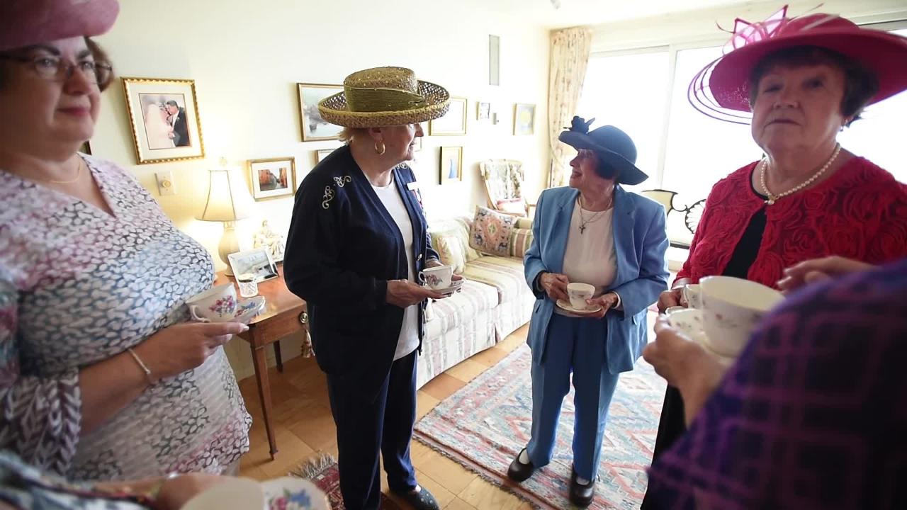 Members of the Daughters of the British Empire, hold a bridal shower in Fort Lee for the upcoming royal wedding this Saturday.