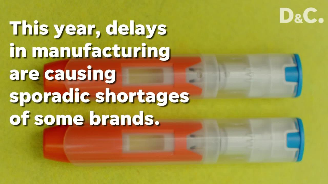 The Food and Drug Administration reported earlier in May that Mylan (which makes the EpiPen brand) and Impax had intermittent manufacturing delays.