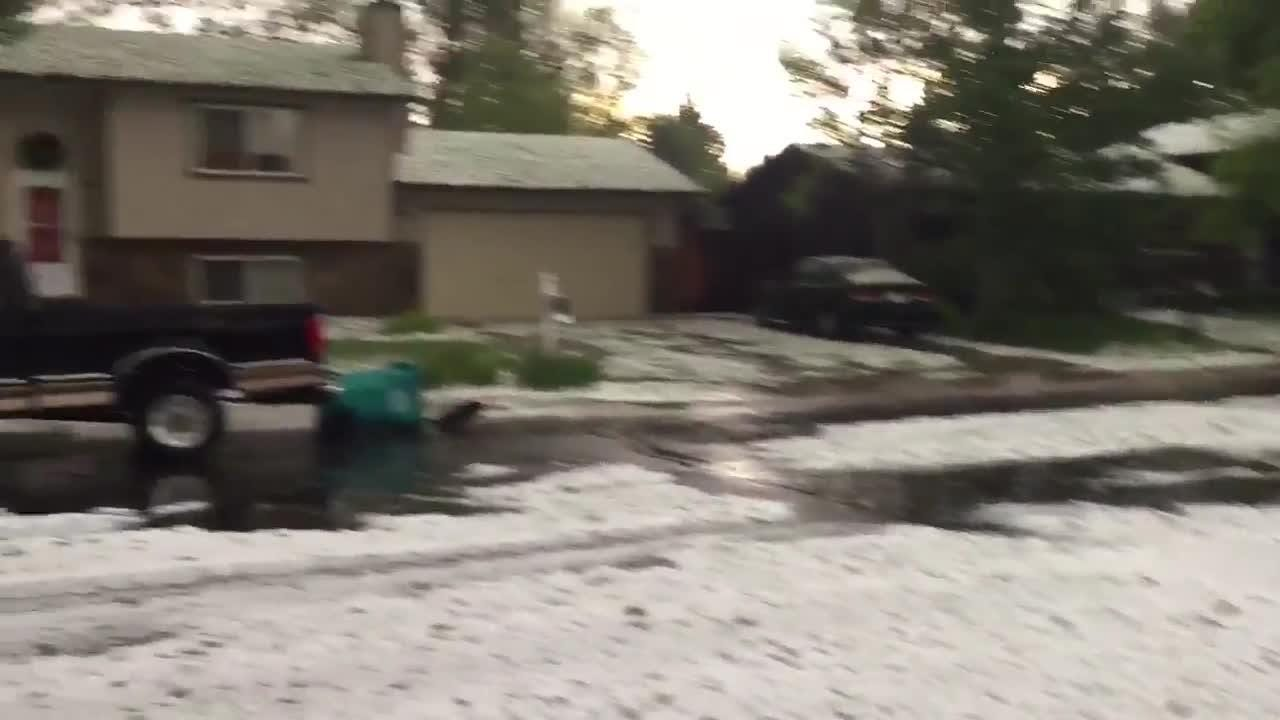 Nope that's not snow! It's hail in central Fort Collins