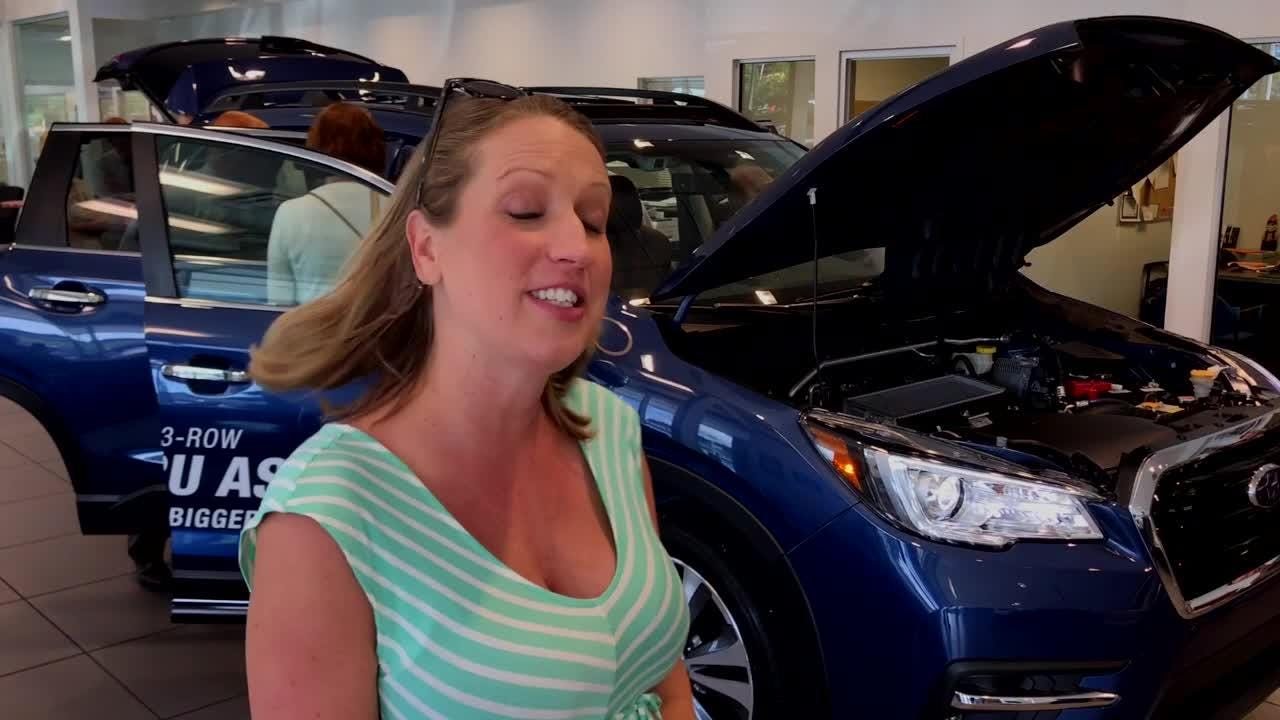 Mandy Sitzlar was on hand Wednesday, May 23, 2018 to see the new Ascent at Grayson Subaru