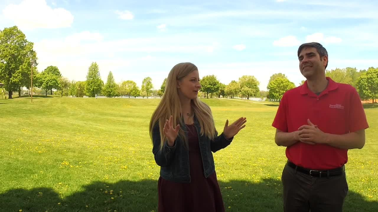 Shelby Le Duc and Jeff Bollier take a trip to Voyager Park ahead of the 28th annual Celebrate De Pere Festival.