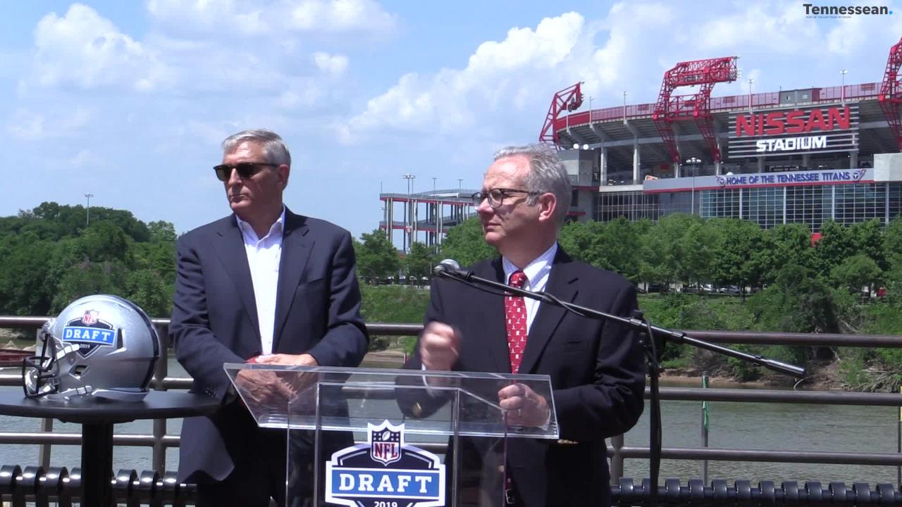 While it's still 11 months away, the 2019 NFL Draft is already starting to take shape on the logistics end for Nashville.