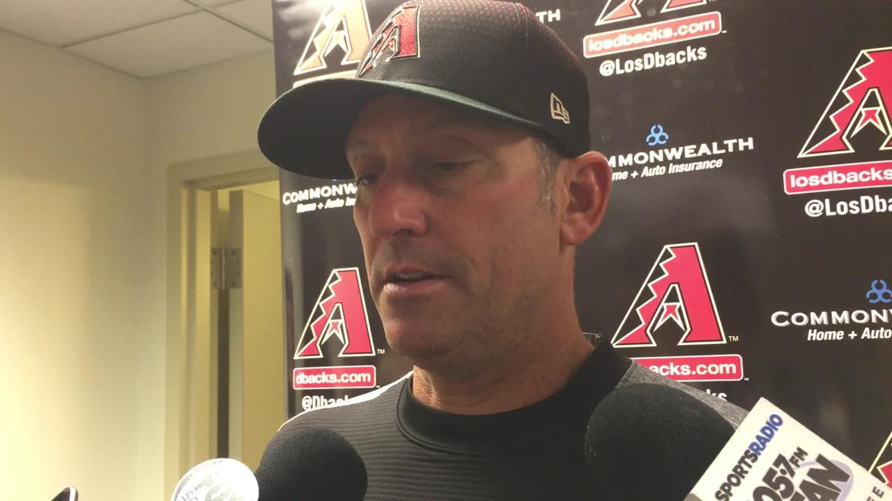 Diamondbacks manager Torey Lovullo talks about Zack Godley's inability to make pitches and escape the fourth inning.