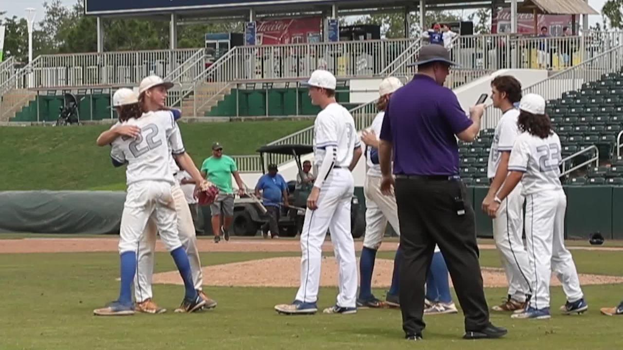The Canterbury baseball team defeats John Carroll Catholic to move onto finals. Watch the reaction