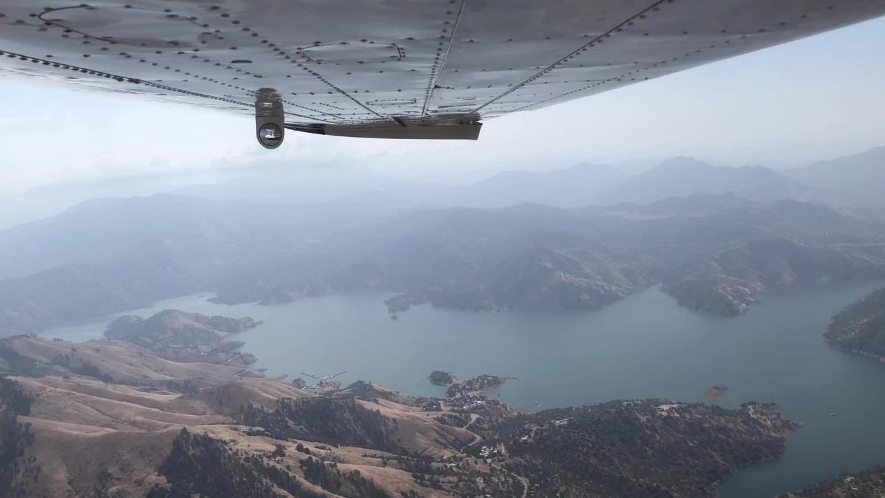 Soaring over the Sierras