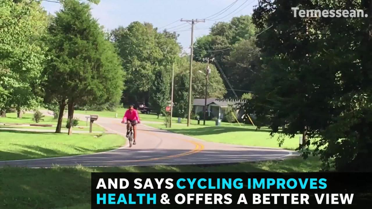 Fairview man promotes cycling for health, great views