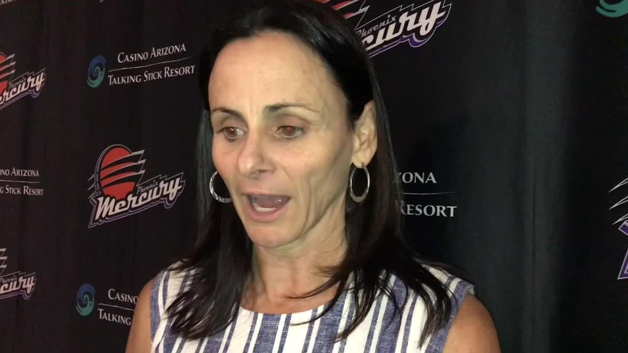 Mercury coach Sandy Brondello discusses her team's first loss, 87-71 to the Seattle Storm on Wednesday.