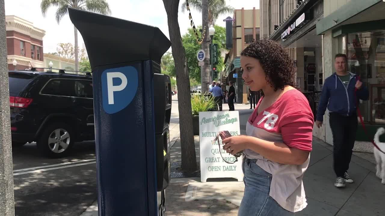 Ventura's new parking meters are blue and there are still 59 of them. There are also still quirks to be ironed out.