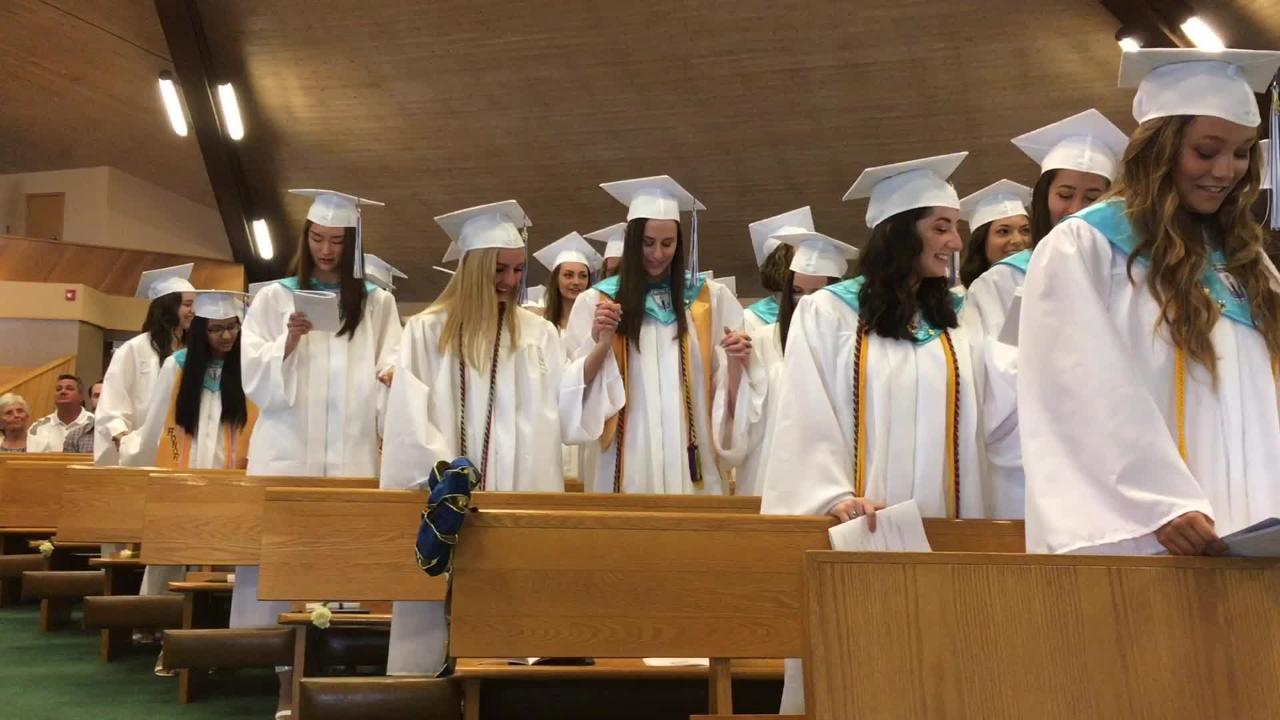 Ladywood High School closes next week. The final graduating class gathered at St. Colette Church for commencement.