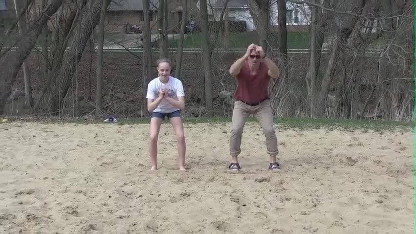 In Motion: Long jump in sand can be a family exercise on the playground