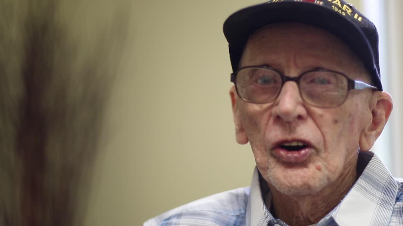 World War II veteran Norbert Knappman reflects on surviving through the war.