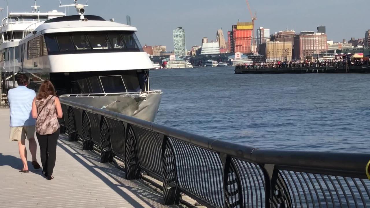 Damage after prom boat crash in Hoboken