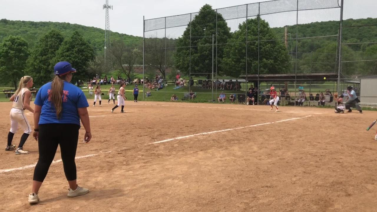 Haley Maggs made a diving catch to put the final touch on Edison's 1-0 win over Notre Dame in the Section 4 Class C softball final May 26.