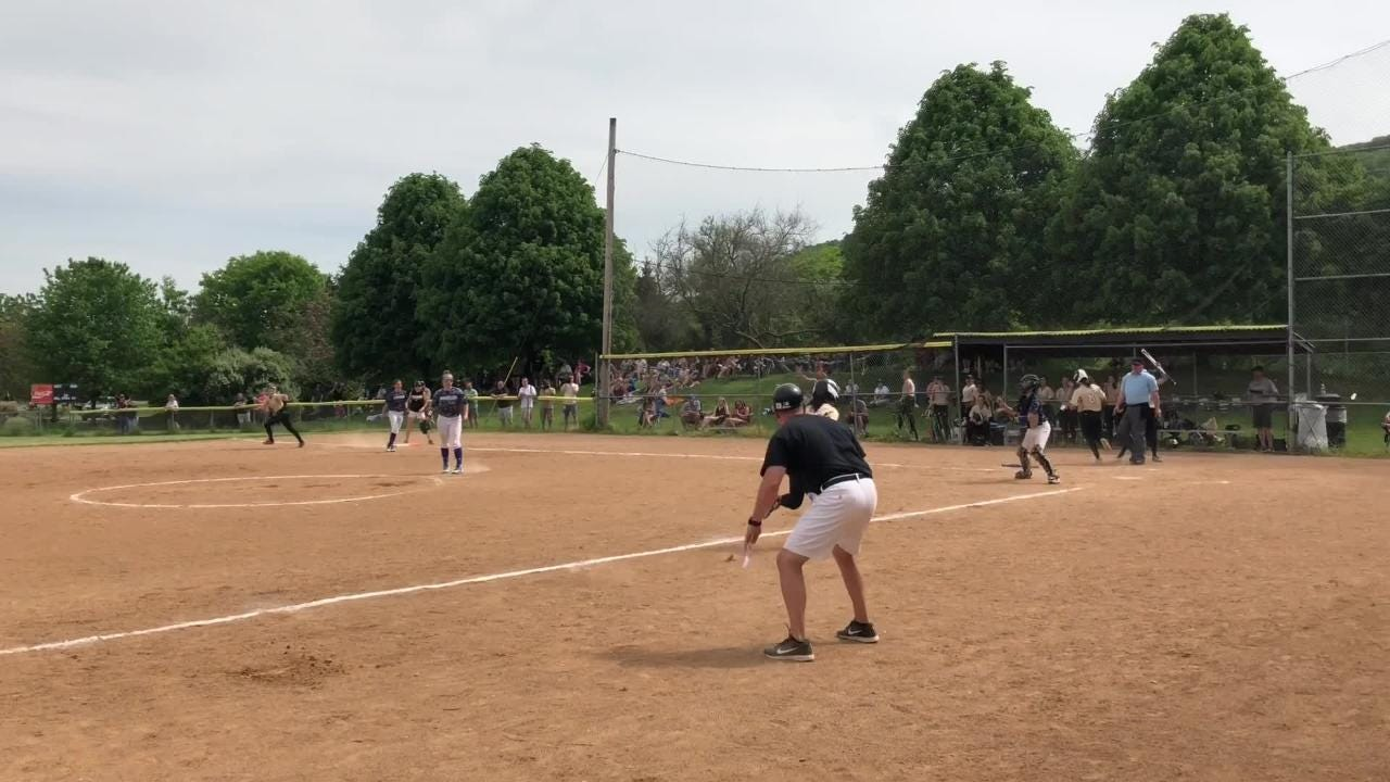 Tess Cites hit a grand slam to help Horseheads rally for a 9-8 win over Corning in the Section 4 Class AA softball final May 26.