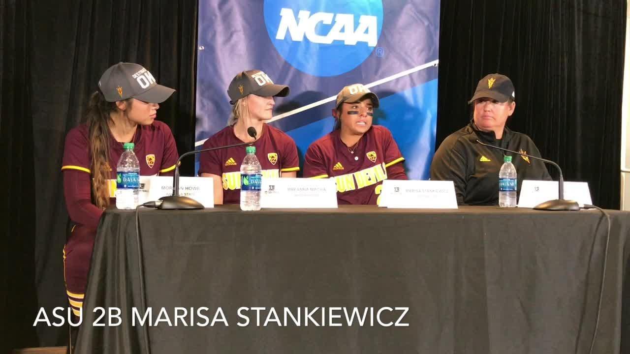 ASU coach Trisha Ford, players on second straight 5-2 win over South Carolina