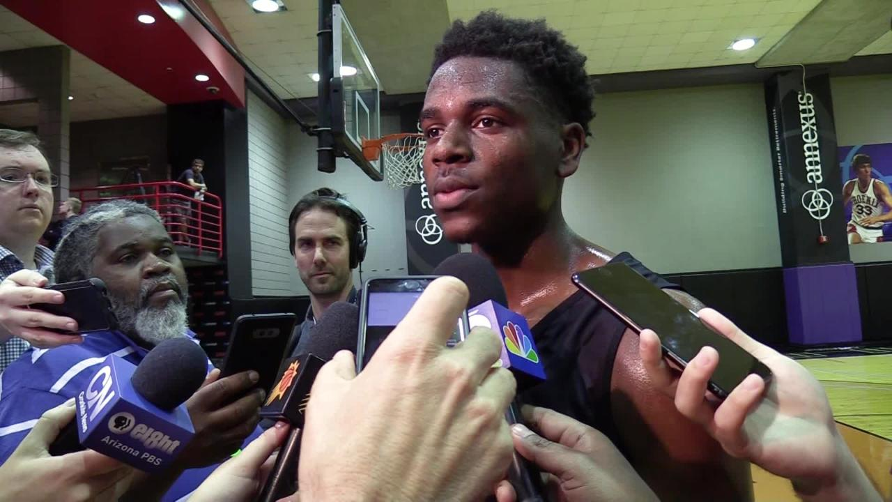 UCLA junior guard Aaron Holiday discusses his pre-draft workout with the Phoenix Suns.