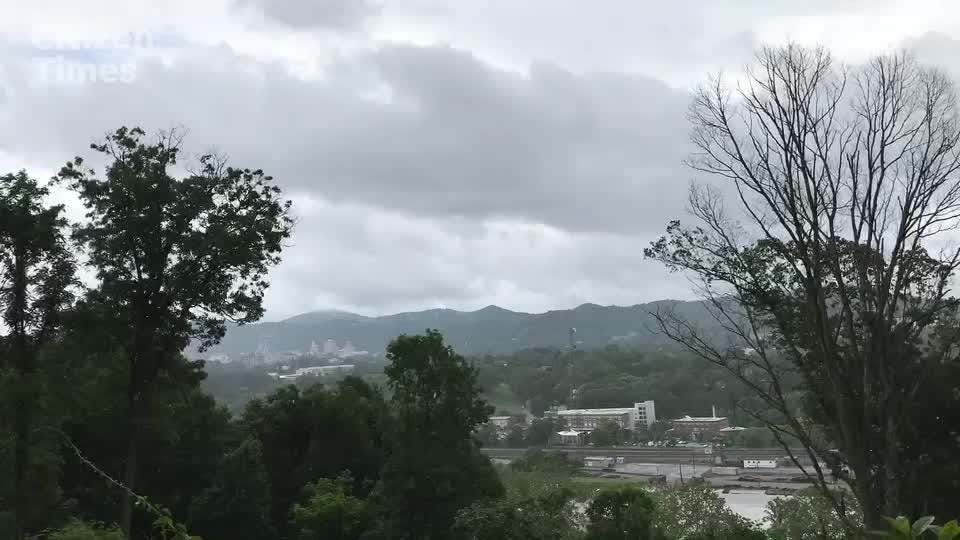Rain continues to fall on Asheville