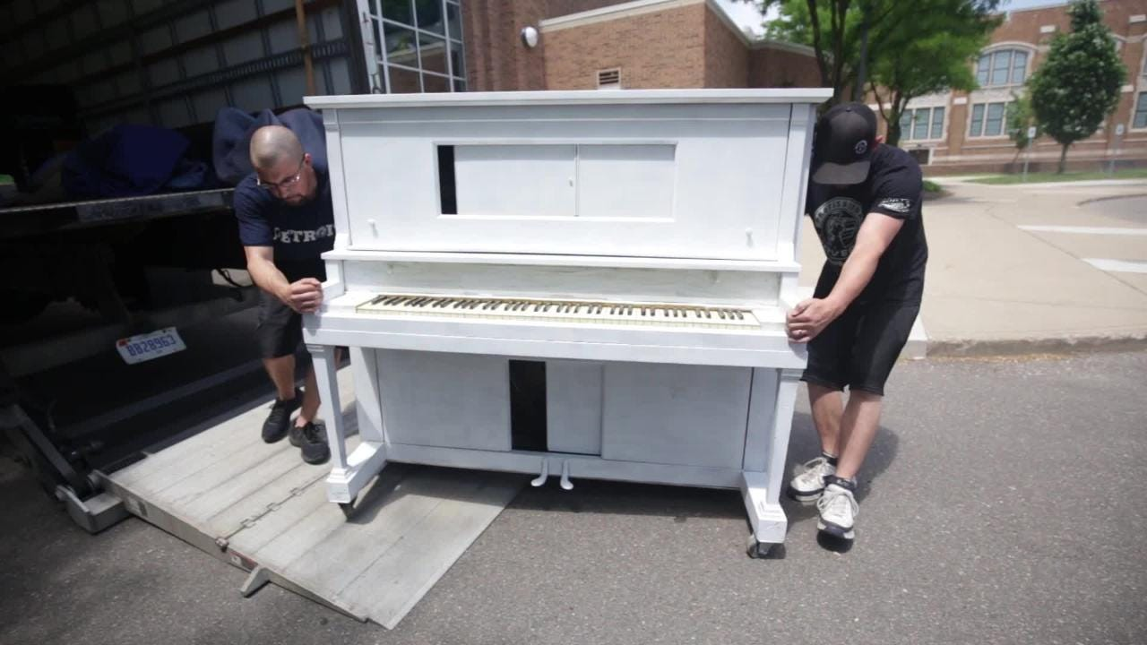 Jason Gittinger, co founder of The Detroit School of Rock and Pop Music in Royal Oak has inspired the Royal Oak Public Piano Project.
