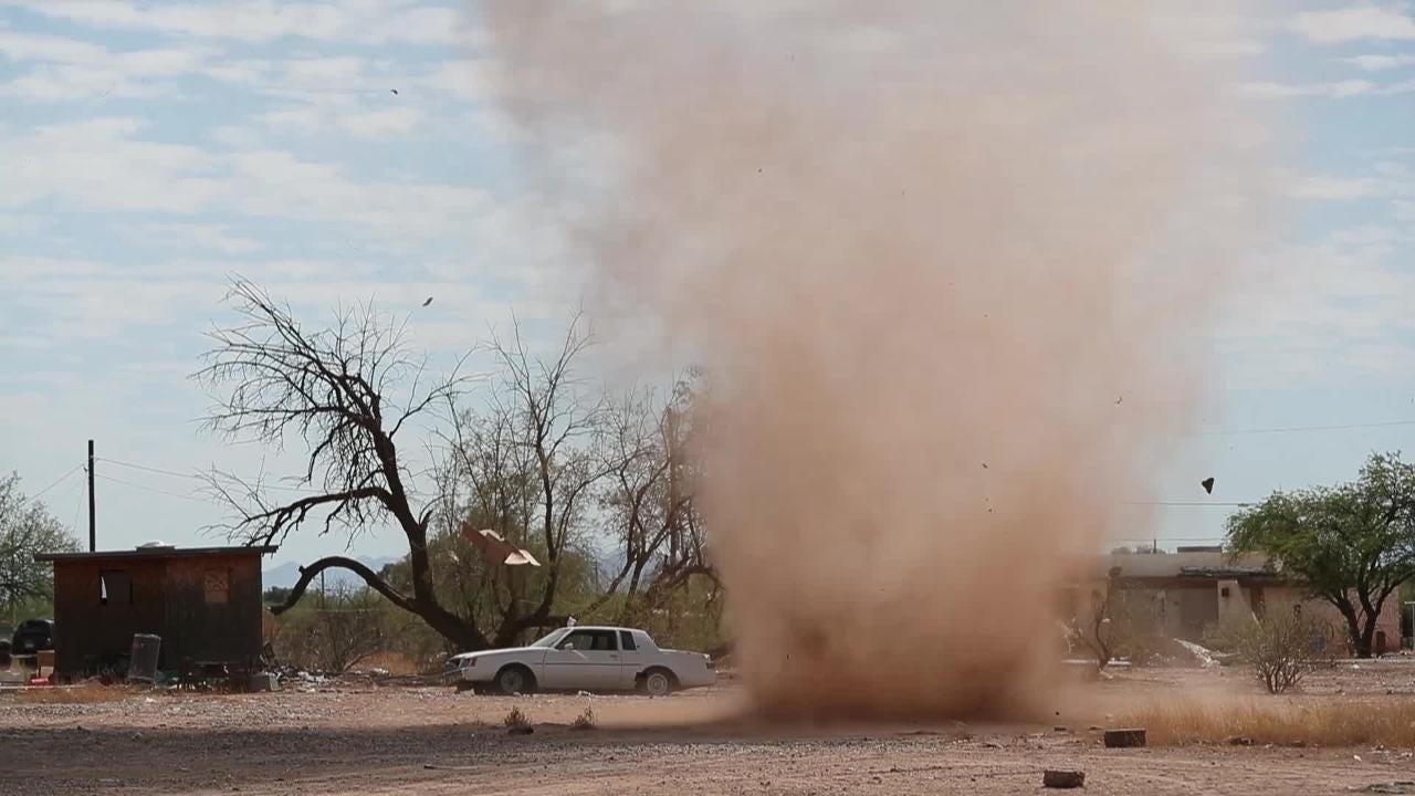 Dust devil rolls through Salt River Pima-Maricopa Indian Reservation