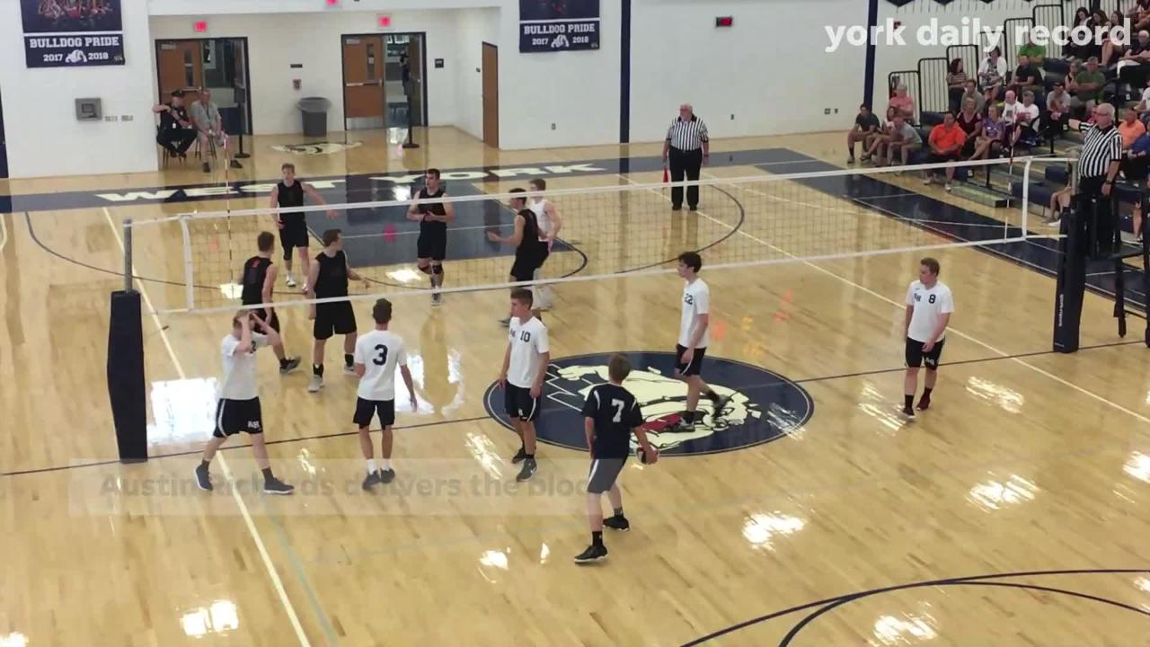 Bobcats, chasing a sixth straight state championship, sweep first-timer Abington Heights 3-0 at West York HS. Here are the highlights: