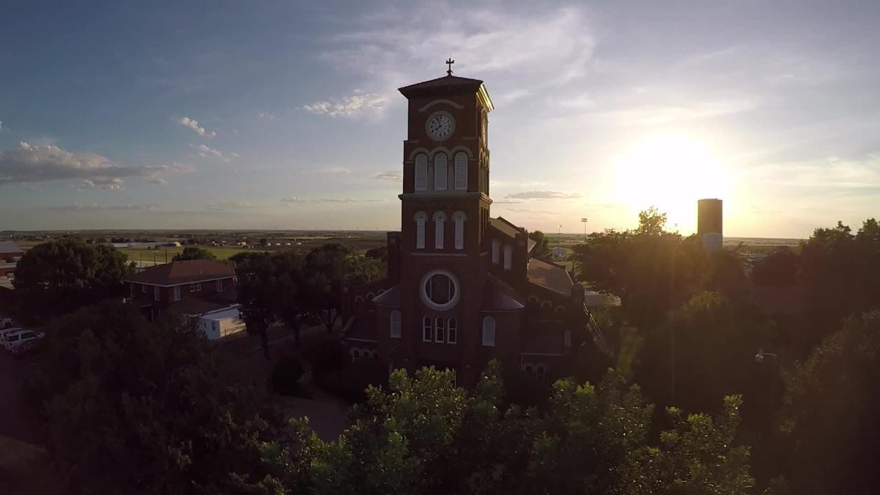 Video of St. Mary's Parish in Windthorst, TX.