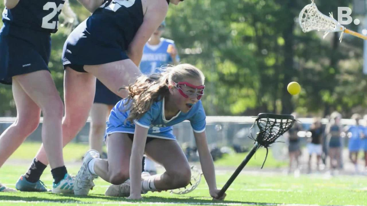 South Burlington girl's lacrosse pulled head to an 11-0 lead by the half, burying Burlington 13-2 during their game at South Burlington High School on Tuesday, May 29, 2018.