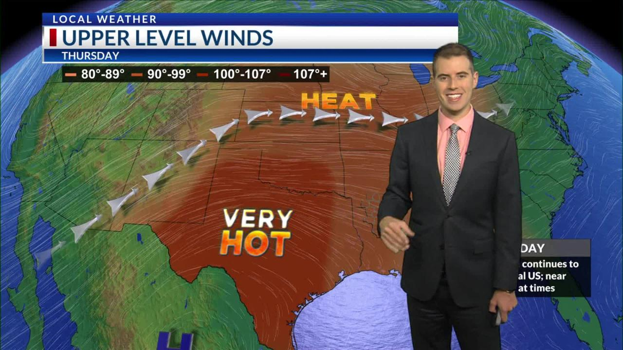 Here's a look at today's weather, courtesy of NBC 10 News.