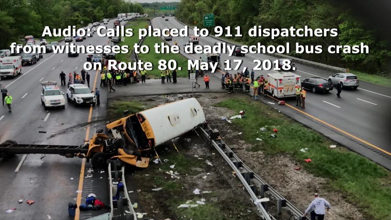 Listen: 911 audio details aftermath of Paramus school bus crash