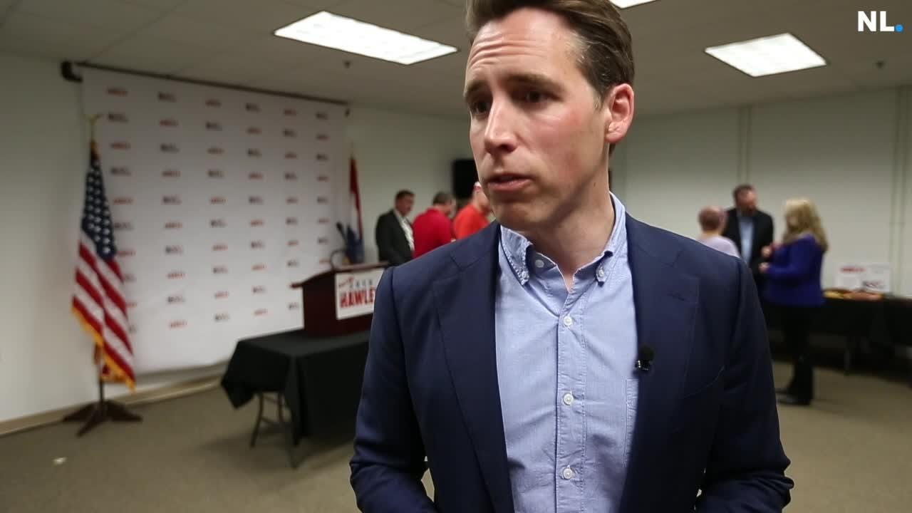 GOP senate candidate Josh Hawley responded to questions about how the Greitens scandal will impact his campaign.