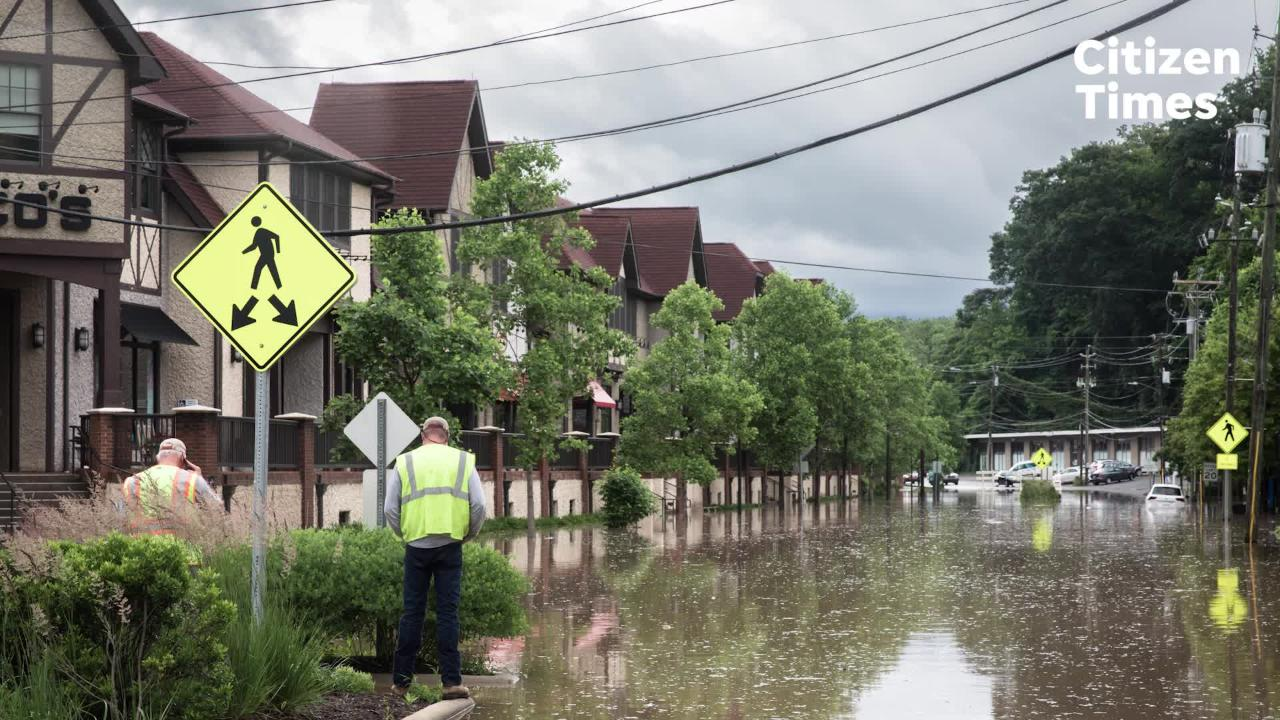 Business owners in Biltmore Village share concerns after the area was completely flooded by heavy rains.