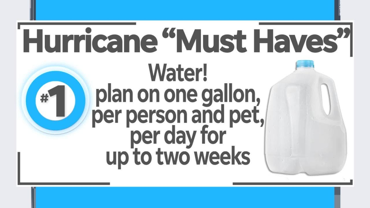 """If a storm is headed our way, you better be prepared! Here are Naples Daily News' Get Organized columnist Marla Ottenstein's top 5 """"must haves.""""  Find the full hurricane checklist at www.naplesnews.com/hurricanechecklist"""