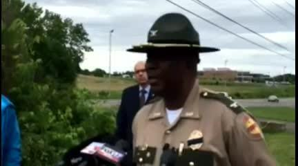 Col. Dereck Stuart of THP give details about the arrest of shooting suspect Steven Wiggins.